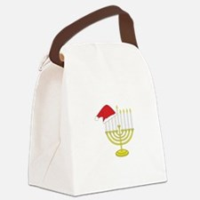 Hanukkah And Christmas Canvas Lunch Bag