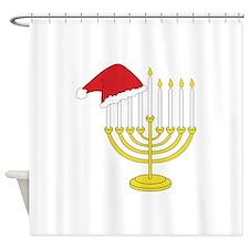 Hanukkah And Christmas Shower Curtain