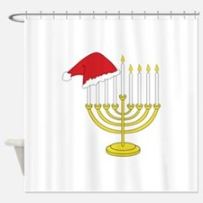 Hanukkah And Christmas Shower Curtain
