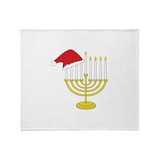 Hanukkah And Christmas Throw Blanket