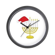 Hanukkah And Christmas Wall Clock