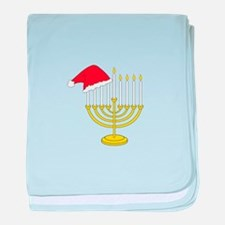 Hanukkah And Christmas baby blanket