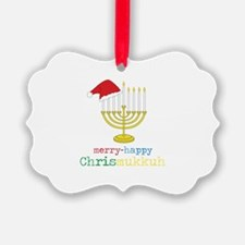 merry-happy Chrismukkah Ornament