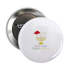 "merry-happy Chrismukkah 2.25"" Button (10 pack)"