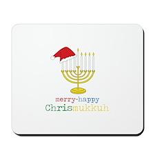 merry-happy Chrismukkah Mousepad