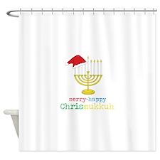 merry-happy Chrismukkah Shower Curtain