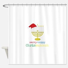 merry-happy Chrismukkah Shower Curtain