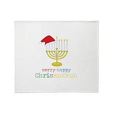 merry-happy Chrismukkah Throw Blanket
