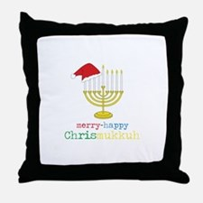 merry-happy Chrismukkah Throw Pillow