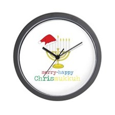 merry-happy Chrismukkah Wall Clock