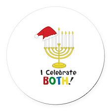 I Celebrate BOTH! Round Car Magnet