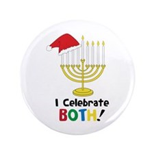 """I Celebrate BOTH! 3.5"""" Button (100 pack)"""