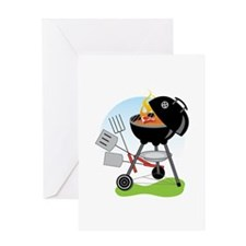 Backyard Grill Greeting Cards