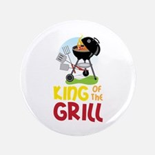 """KinG OF ThE GRILL 3.5"""" Button"""