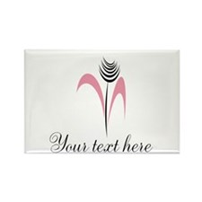 Pink Beauty Abstract Exotic Flower Magnets