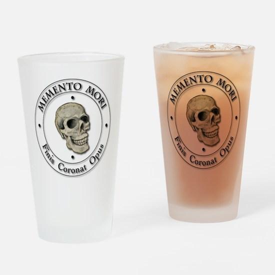 Memento Mori black Letter Drinking Glass
