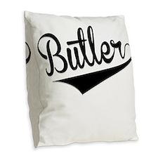 Butler, Retro, Burlap Throw Pillow