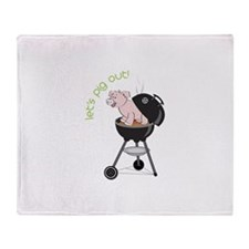 lets pig out! Throw Blanket