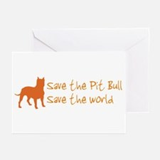 Save The Pit Bull.. Greeting Cards (Pk of 10)