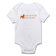 Save The Pit Bull.. Infant Bodysuit