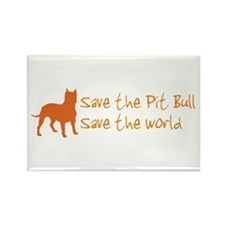 Save The Pit Bull.. Rectangle Magnet