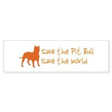 Save The Pit Bull.. Bumper Bumper Sticker