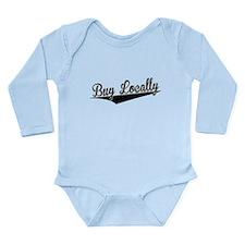 Buy Locally, Retro, Body Suit