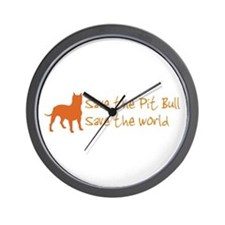 Save The Pit Bull.. Wall Clock