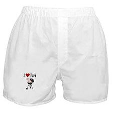 I Love Pork Boxer Shorts