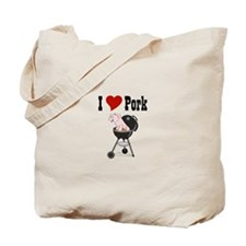 I Love Pork Tote Bag