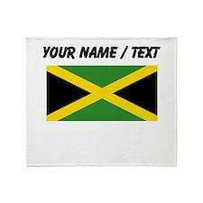 Custom Jamaica Flag Throw Blanket