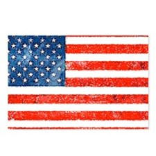 American Grungy flag Postcards (Package of 8)