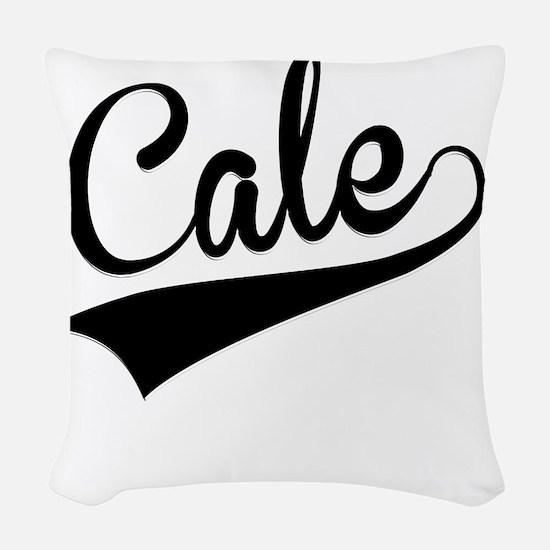 Cale, Retro, Woven Throw Pillow