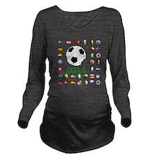 Brazil Soccer 2014 Long Sleeve Maternity T-Shirt