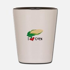I Love CorN Shot Glass