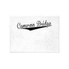 Cameron Bridge, Retro, 5'x7'Area Rug