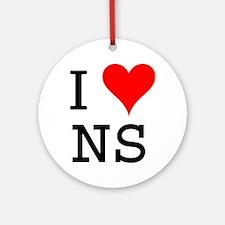 I Love NS Ornament (Round)