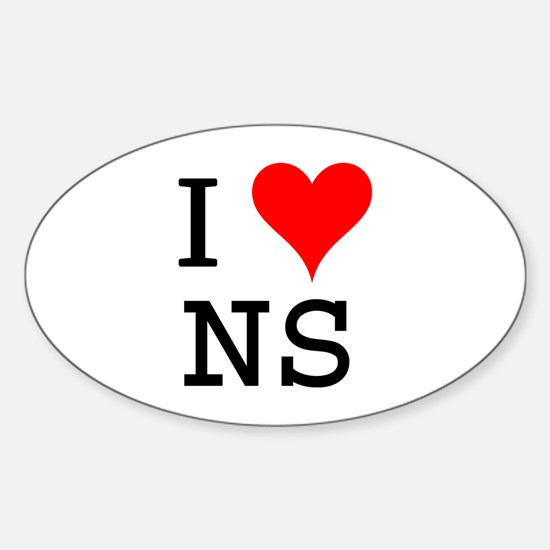 I Love NS Oval Decal