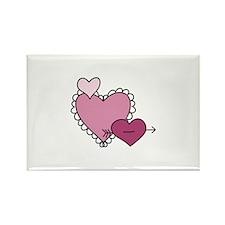 Captured Heart Valentine Magnets
