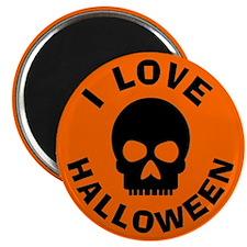 I Love Halloween Skull 2.25