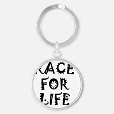 race for life arty design Round Keychain