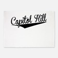 Capitol Hill, Retro, 5'x7'Area Rug