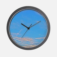 Air Brushed Painted Sunset Skies Wall Clock