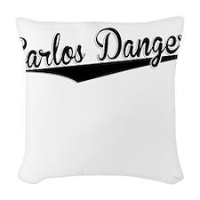 Carlos Danger, Retro, Woven Throw Pillow