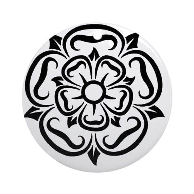 rose of yorkshire lancashire round ornament by listing store 109821655. Black Bedroom Furniture Sets. Home Design Ideas