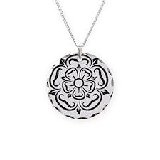 rose of yorkshire lancashire Necklace Circle Charm