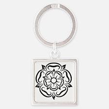 rose of yorkshire lancashire Square Keychain