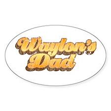 Waylon's Dad's Oval Decal