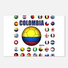Colombia futbol soccer Postcards (Package of 8)