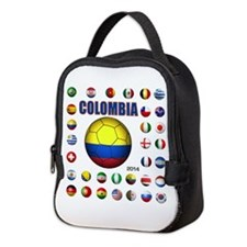 Colombia futbol soccer Neoprene Lunch Bag
